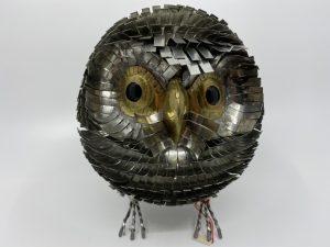 Hibou en métal 18 cm